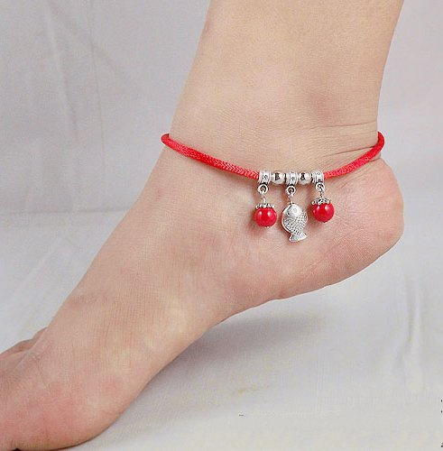 Tibetan Silver Sterling Silver Bangle Anklet Chain Bracelet Jewellery Quality Style NO.3006