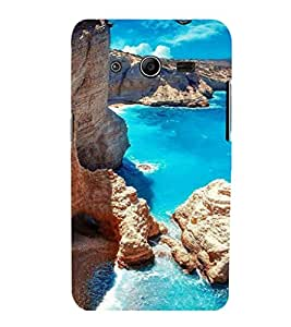 printtech Blue Water Beach Lagoon Nature Back Case Cover for Samsung Galaxy Core 2 G355H
