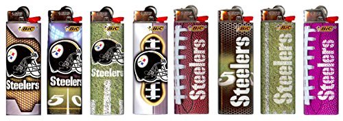 6pc Set BIC Pittsburgh Steelers NFL Officially Licensed Cigarette Lighters at Steeler Mania