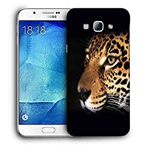 Snoogg Leopard Face Designer Protective Back Case Cover For SAMSUNG GALAXY A8