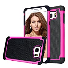 buy Samsung Galaxy Note 5 Case, Shuyo(Tm) [Tmajor Series] Galaxy Note 5 Case Shock Absorbing Hybrid Impact Defender Slim Cover Shell Plastic Outer + Rubber Silicone Inner [Black/Rose]