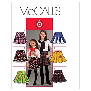 McCall's Patterns M5696 Children's/Girls' Skirts, Size CCE (3-4-5-6)