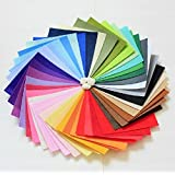 LifeGlow Crafts DIY Polyester Felt Nonwoven Fabric Sheet for Craft Work 42 Colors Super Soft Squares15*15cm / 5.9*5.9inch, About 1.5mm Thick, Type A