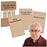Accoutrements Grump Notebooks (3 Per Order)