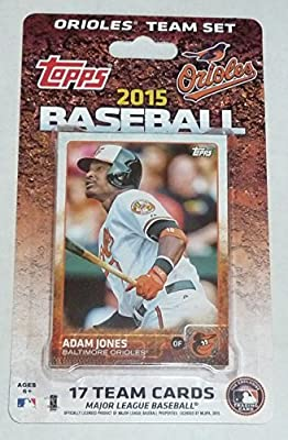 2015 Topps Baltimore Orioles Factory Sealed Limited Edition 17 Card Team Set with Manny Machado Plus