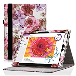 Microsoft Surface 3 Case, SPARIN® PU Leather Stand Cover Case for Microsoft Surface 3 (10.8 Inch Display, 2015 Version), Lucky Flower