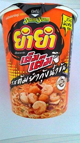 Yum-Yum Instant Cup Noodles Tom Yum Kung (Shrimp) Flavour Thai Original Spicy Net Wt 60 g (2.11 Oz) x 6 cups (Zero Calorie Japanese Jelly compare prices)