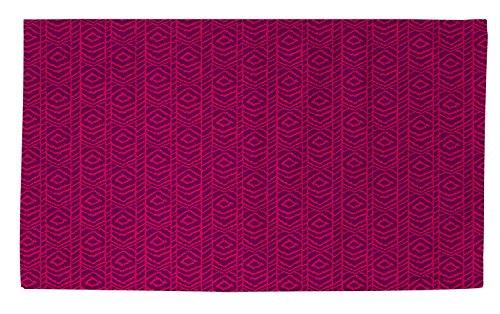 Thumbprintz Dobby Bath Rug, 2 By 3-Feet, Purple Sketched Ikat front-483777
