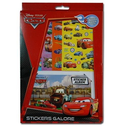 WeGlow International Disney Cars Sticker Sheet & Sticker Album Set (Set of 2)