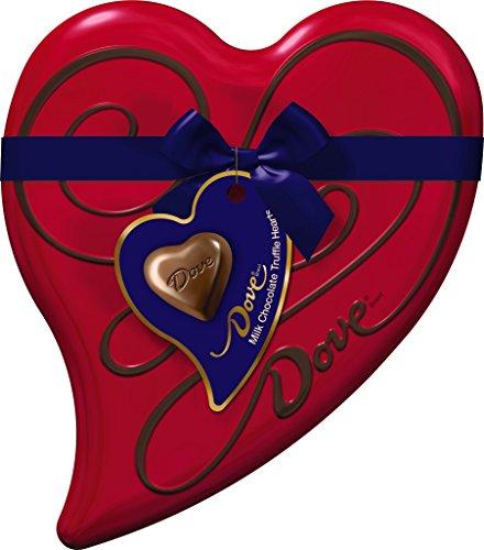 Dove Valentine's Milk Chocolate Truffle Heart Tin, 6.5 Ounce
