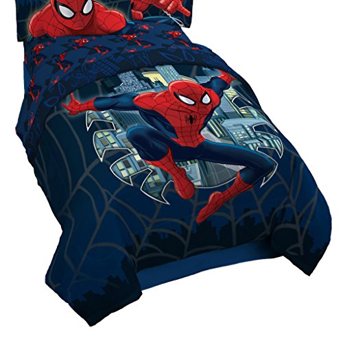 Marvel Spiderman Microfiber Twin/Full Quilt Stitch Reversible Comforter