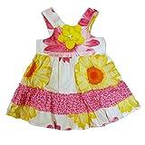 Youngland Infant Girls Pink & Yellow Flower Sun Dress 2 Piece Sundress
