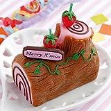 【クリスマスケーキキャンドル】ブッシュ・ド・ノエル