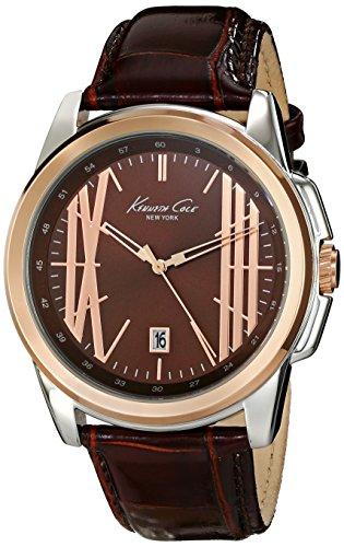 kenneth-cole-new-york-kc8096-da-uomo-analogico-al-quarzo-con-display-analogico-colore-marrone-orolog