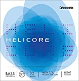 D\'Addario Bowed Jeu de cordes pour contrebasse orchestre D\'Addario Helicore, manche 3/4, tension Light
