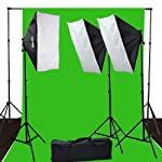 ePhoto 10 x 12 ChromaKey Green Screen Digital Photography Video Continuou Lighting Background Support Kit by ePhotoInc H9004S3-1012G