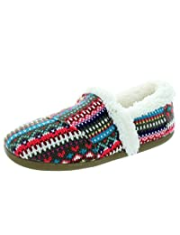 Toms Youth Stripe Knit Slippers