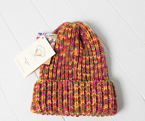 (ハイランド2000) HIGHLAND 2000 イングランド製 リブ編みミックスニット帽[BOB CAP] 12777 Melthnm(オレンジ系) ニットキャップ ニットワッチ ビーニー 毛糸 メンズ 男性 レディース 女性 男女兼用 帽子