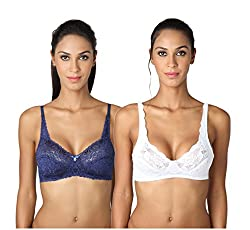 Bodyline Embroidery Net Wire Free Non Padded Special Occasion Bra.