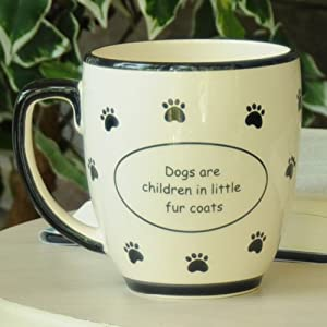Tumbleweed 'Dogs Are Children in Little Fur Coats' Ceramic Coffee Mugs from Tumbleweed