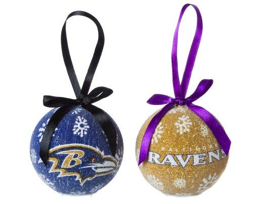 Baltimore Ravens Boxed Led Ornament Set