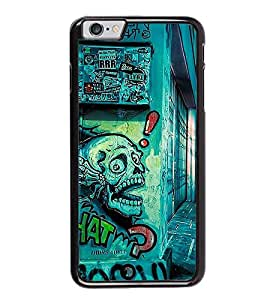 Fuson Premium 2D Back Case Cover What? With Multi Background Degined For Apple iPhone 6 Plus