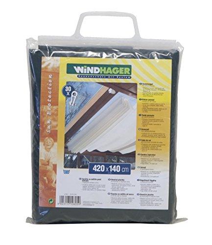 Toldo para estructura corredera Windhager, verde puro, 420 x 140cm