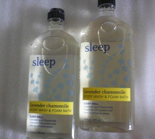 Lot of 2 Bath & Body Works Aromatherapy Sleep Lavender Chamomile Body Wash & Foam Bath Aromatherapy Bath Lavender