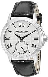 Stuhrling Prestige Men's 384.33152 Swiss Noble Quartz Silver Tone Watch