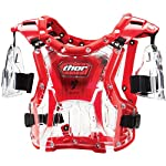 Thor MX Quadrant Protector Youth Roost Deflector Dirt Bike Motorcycle Body Armor - Clear/Red / One Size