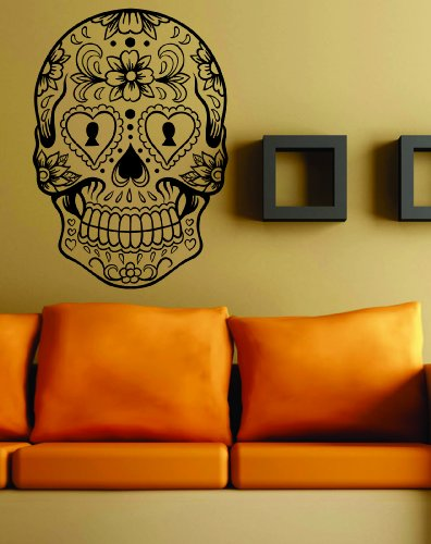 Sugarskull Version 6 Wall Vinyl Decal Sticker Art Graphic Sticker Sugar Skull
