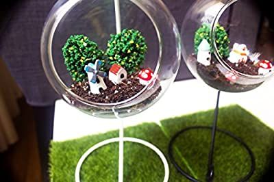 "Glass Hanging Planter Terrarium - Candle Holder Decor - INCLUDES Our Special ""Mysteries Of Urban Gardening"" Ebook"