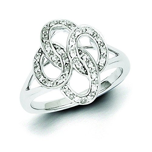 Sterling Silver and Diamond Ring - Ring Size Options Range: L to P