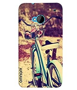 Omnam Cycle Standing In Park Photo Designer Back Cover Case For HTC One M7