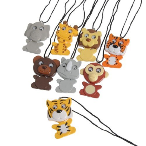 Dozen Wiggling Assorted Wild Animal Necklaces