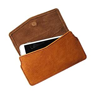 i-KitPit : PU Leather Pouch Case With Magnetic Closure For Lava iris 504Q (BROWN)