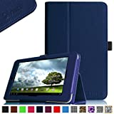 Fintie Folio Case for ASUS MeMO Pad HD 7-inch ME173X Tablet Slim Fit Support Sleep / Wake Function with Stylus Holder - Navy
