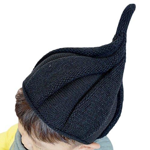 [モノジー] MONOZY キッズ ベビー とんがり 帽子 【選べる11色】46~52cm 子供用 ニット キャップ かわいい しずくの 秋 冬 帽子