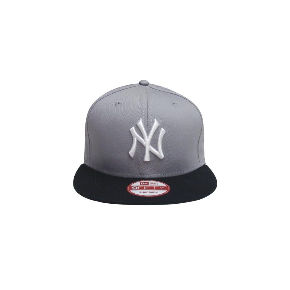 pretty nice 5cf1d 8bc55 New York Yankees Retro New Era Logo Hat Cap Snapback Grey Navy