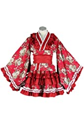 Dream2Reality Lolita Cuture Cosplay costume - Lolita 15th Ver Red Kid Size Small