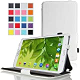 MoKo Samsung Galaxy Tab 3 8.0 Case - Slim-Fit Multi-angle Folio Cover Case for Samsung Galaxy Tab 3 8.0 inch SM-T3100 / SM-T3110 Android Tablet, WHITE (WILL NOT Fit Samsung Galaxy Tab 4 8.0)