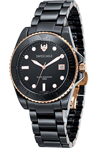 Swiss Eagle Reloj de cuarzo Dive Negro 40  mm