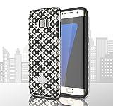 #9: Cubix® Grid Mesh Case For Samsung Galaxy S7 EDGE Case Hollow Series Designer Air Cushion Air Vent Dual Layer Case Cover Fashion Bumper Silver