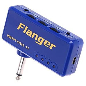 Flanger Mini Headphone Guitar Amp Gitarren AMP Amplifier,Blau