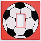 Red Football Light Switch Cover