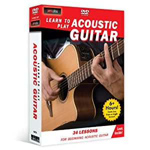 learn to play acoustic guitar 4 dvd for beginners jessica baron jamplay movies tv. Black Bedroom Furniture Sets. Home Design Ideas