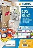 Herma 12902 Universal-Etiketten 105 Stück weiß