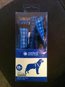 AKC Adjustable Harness 20-28 Max Colors/designs Vary