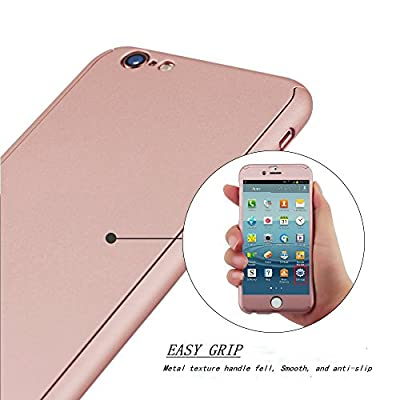 """iPhone 6 Case, FIRMGE® 360 Full Body Coverage Protection Hard Slim Ultra-thin Hybrid iPhone 6 Case Cover & Skin with Tempered Glass Screen Protector for Apple iPhone 6 4.7"""" by FIRMGE"""