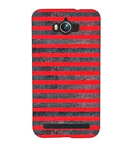 Red Lines Pattern 3D Hard Polycarbonate Designer Back Case Cover for Asus Zenfone Max ZC550KL :: Asus Zenfone Max ZC550KL 2016 :: Asus Zenfone Max ZC550KL 6A076IN